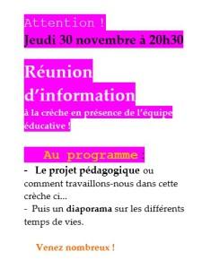Affiche réunion péda novembre 2017